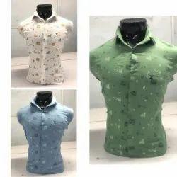 Raj Collection Collar Neck Men Designer Printed Shirt, Size: M To Xl