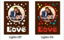 Led sublimation love photo frame