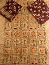 Maitrik Cotton Embroidery Unstitched Suit For Regular