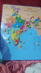 English Wooden India Map Puzzle