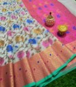Banarasi Organza Meenakari Work Saree