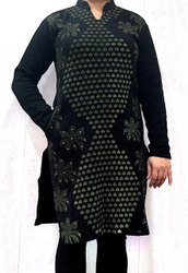 Casual Wear Ladies Full Sleeve Woolen Kurti, Wash Care: Machine wash