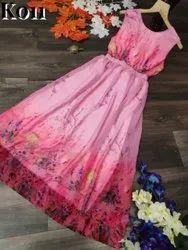 Formal Wear Georgette RFK201 Ladies Designer Gown, Wash Care: Handwash