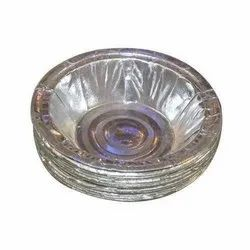 Dona Plain Paper bowl silver foil 100gsm, For Event and Party Supplies, Size: 6 Inch