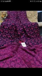 Wedding Wear Linen Banarasi Saree, 6.3 m (With Blouse Piece)