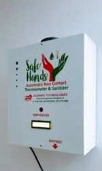 Contact-Less Thermometer With Automatic Hand Sanitizer Dispenser