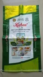 Printed Bopp Rice Bag