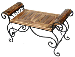 Black Powder Coated Wooden Iron Chair, For Outdoor