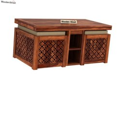 Brown Modern Full Wooden coffee table, For Home