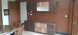 Wooden Straight Modular Kitchen