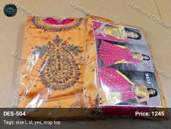 Wedding Wear Stitched Designer Crop Top Lehenga, Full Hand Work, 2.25