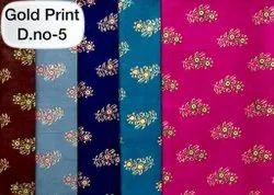 Full Length Cotton Gold Print Nighty, Fabrics