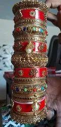 Red PLASTIC SUHAAG CHURA (BRIDAL BANGLE)
