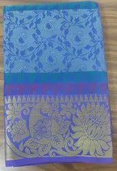 6.3 m (with blouse piece) Festive Wear Handloom Silk Cotton Jacquard Saree