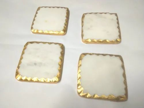 Marble gold coaster