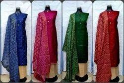 SHREEJI Silk Party Wear Dress Material