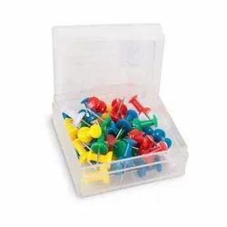 Plastic Push Pin, 50, 10 Box