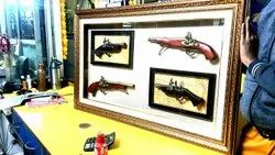 Antique Gun Picture Frames