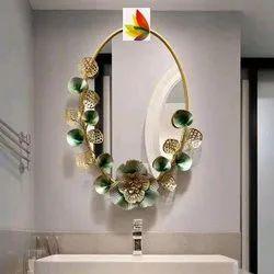 Azmi Golden Wall Decor Mirror, For Home