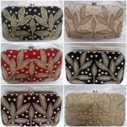 Embroidered Box Clutches