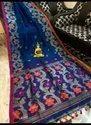 Linen Handweived Zari Minakari Jamdani Sarees
