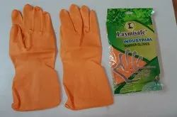 Industrial use Rubber Hand Gloves Laxmi safe, Size: Large