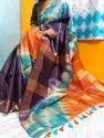 Shibhori Printed Tussar Gicha Silk Saree