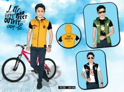 Party Wear Half Sleeves Kid's T-Shirt With Koti