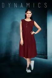 Casual Wear Regular Ladies Sleeveless Rayon Kurtis, Wash Care: Machine wash