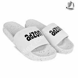 White Rubber Mens Casual Slipper, Size: 7