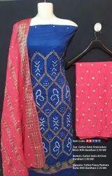 Pure Cotton Bandhej Suits
