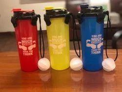 Polypropylene Flip Top Cap Gym Protein Shaker Bottle 600ml