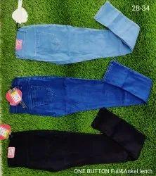 Plain Regular Fit Silky Jeans