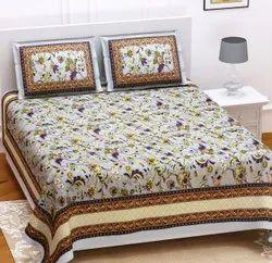 Sanganeri Cotton Printed Double Bedsheet