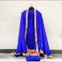 Bandhej Silk Gotapatti Suits