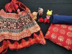 Chanderi Silk Suit Fabric