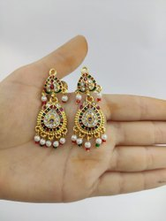 Wedding Gold Plated Fancy Ladies Earrings