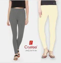 CRYSTAA 95%cotton +5%lycra Biowash Cotton Legging