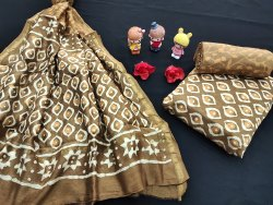 Bagru Printed Chanderi Silk Suit Fabric