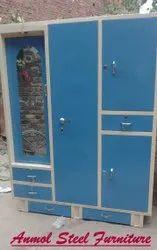 4 Door Steel Almirah with drawer
