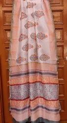 Party Wear Chanderi Silk Cotton Saree, 6.5 mtrs with blouse, Hand Made