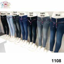 Skinny Bottom Denim Jeans For Women