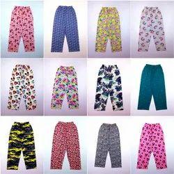 Cotton Kids Girls Printed Pyjama Pant