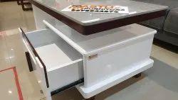 Rectangle Shape White deco Center table rectangele, Size: 39.5x20 Inch