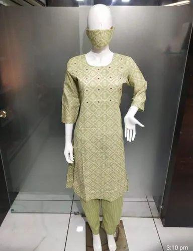 Desginer kurti with pent
