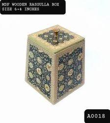 中密度纤维板木质印刷拉古拉糖果盒,存储容量:.500 Grm,尺寸:6英寸