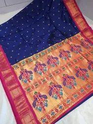 Yeoal Pride Party Wear Kadiyal silk, 6.3 m (with blouse piece)