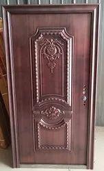 Copper Finish Steel Embossed Door
