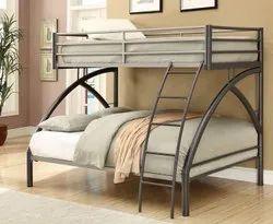 Black Designer Double Bunk Bed, For Home