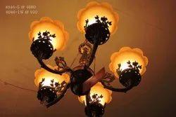 Incandescent Bulb Round Hanging Chandelier